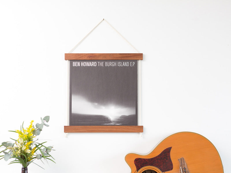 Record Jacket Frame by Corner Block Studios - Brunette Hardwood
