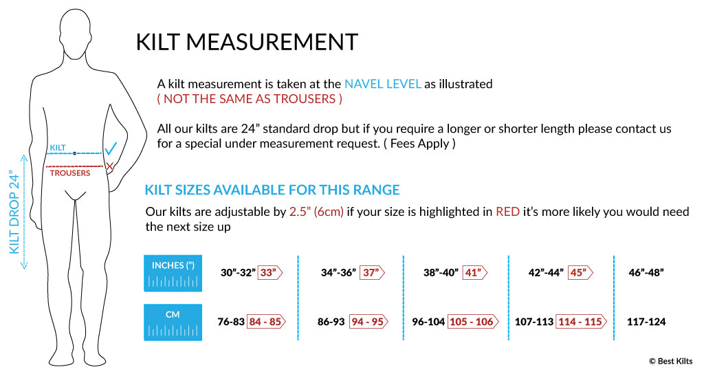 kilt measuring guide