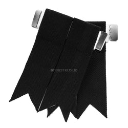 Best Value Kilt Tartan Flashes Plain Black