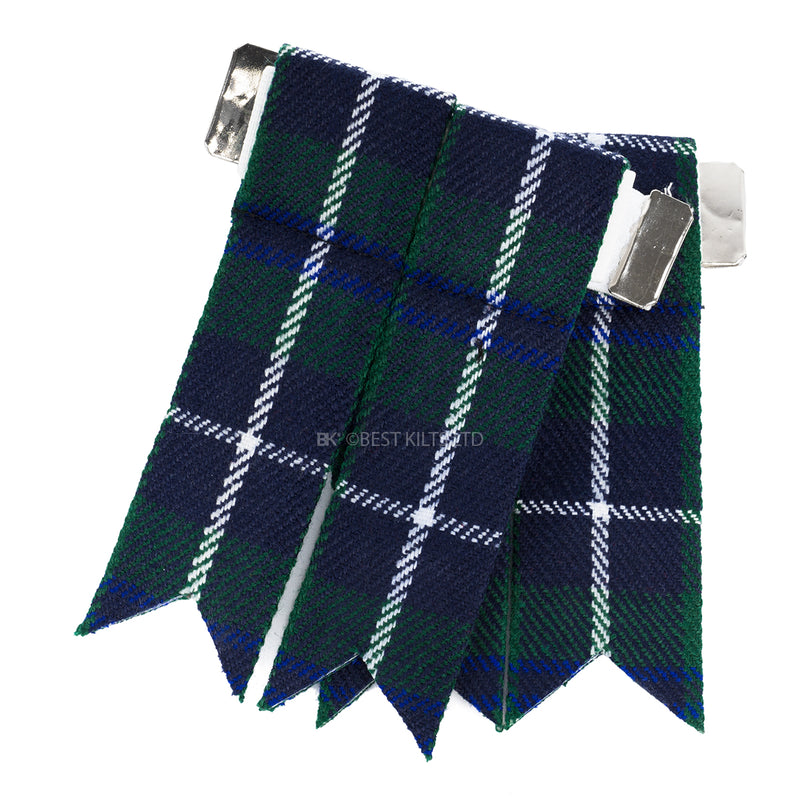Best Value Kilt Tartan Flashes Douglas Blue