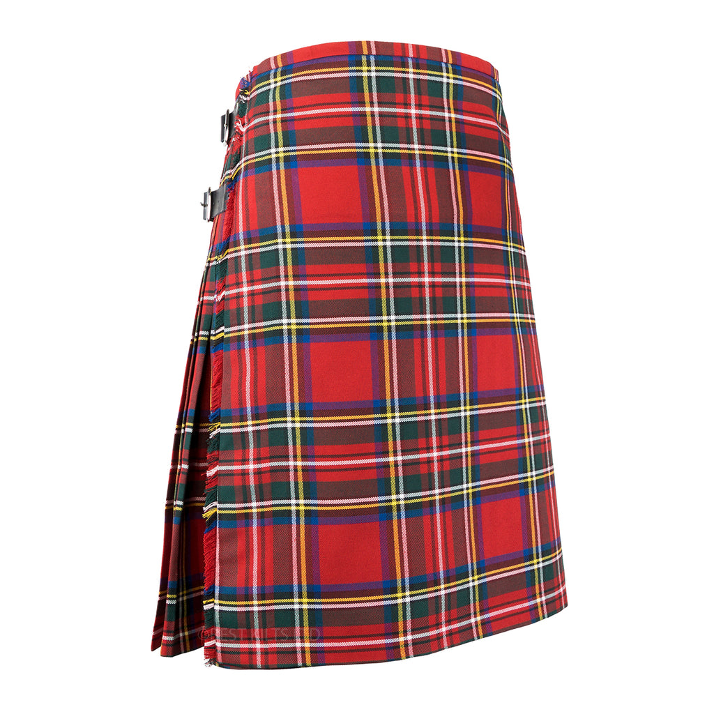 Mens Scottish Traditional 8 Yard Kilt Royal Stewart