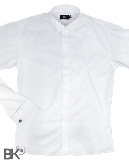 Formal White Wing Collar Shirt Plain Front