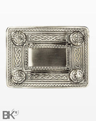 Polished Steel Belt Buckle Celtic Knots