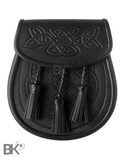 Casual Leather Sporran Celtic Embossed