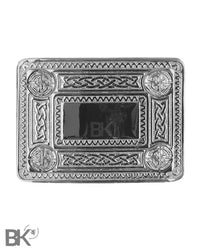 Chrome Belt Buckle Celtic Knots