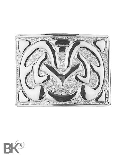 Chrome Belt Buckle Celtic Knot Design