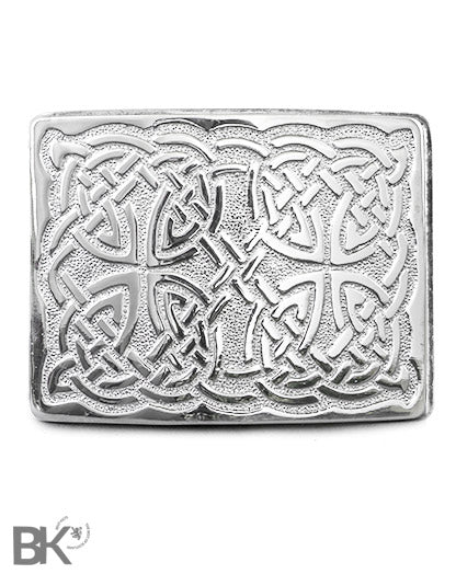 Chrome Belt Buckle Celtic Design