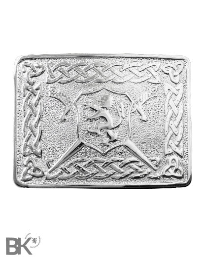 Chrome Belt Buckle Scottish Lion Rampant