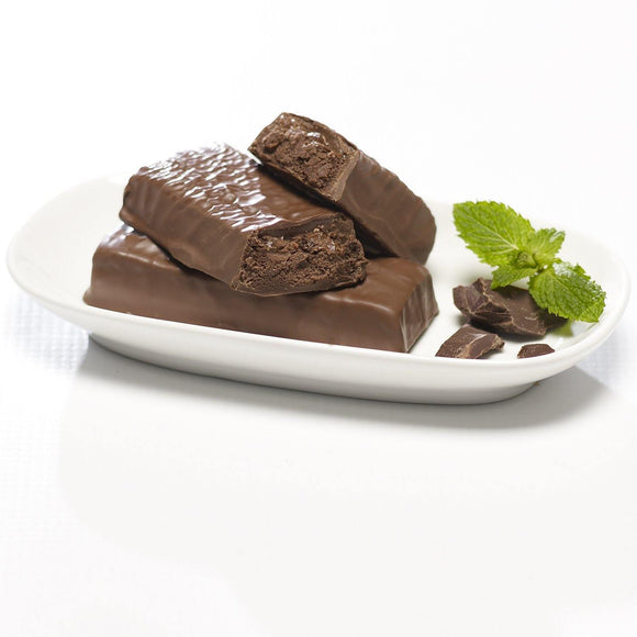 Cocoa Mint Crunch Bar.  7 Bars per box. 15g Protein & 9g Net Carbohydrates. Kosher.
