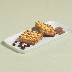 Mocha Wafers.  5 bags per box (2 wafers per bag). 15g Protein & 12g Net Carbohydrates. Aspartame Free, Corn Syrup Free.