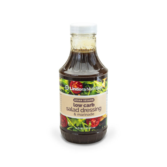 Asian Sesame Dress and Marinade. 1g Protein & 0g Net Carbohydrates. No Sugar.