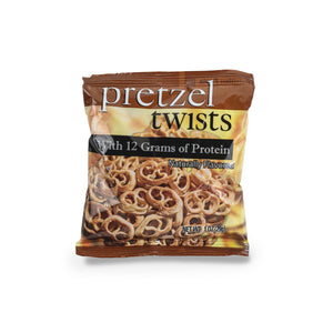 Pretzel Twists.  Single Serving Bag. 12g Protein & 11g Net Carbohydrates. Aspartame Free, Lactose Free, Kosher.