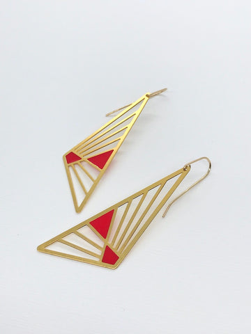 Asymmetric Triangle Earrings