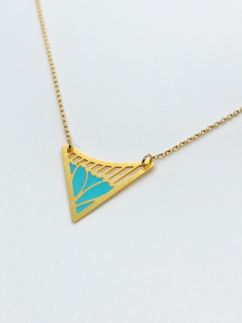 Floral Triangle Necklace