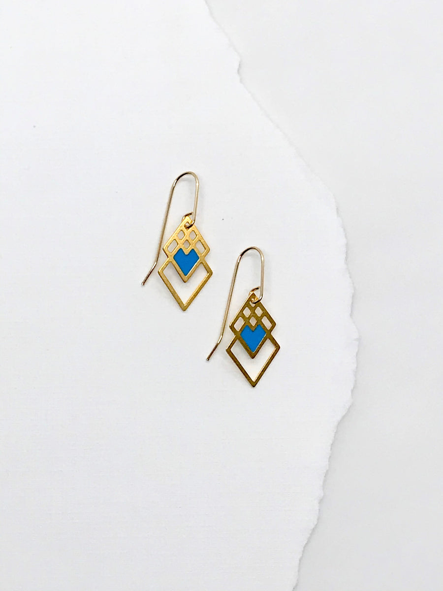 Square Heart Earrings