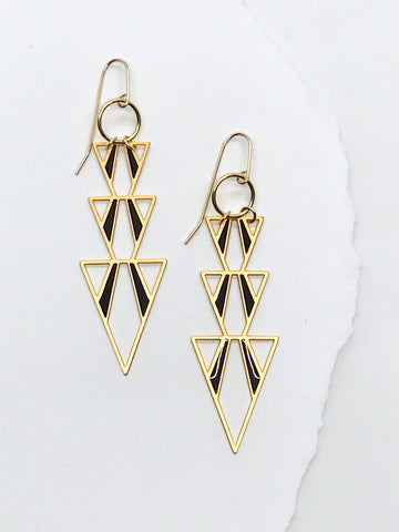 Triple Triangle Earrings