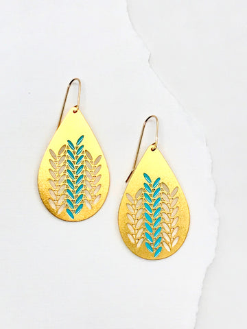 Knit Weave Teardrop Earrings