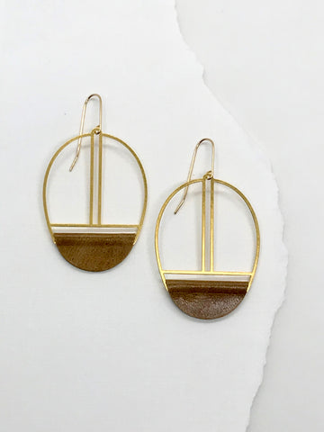 Butterscotch Leather Earrings