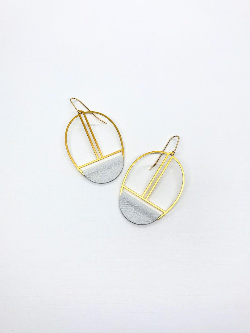 White Leather Earrings