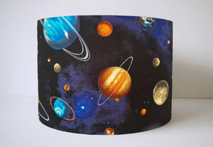 Blue planet and solar system lampshade