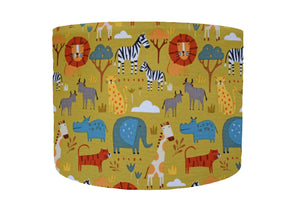 yellow green safari lampshade