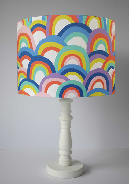 girl pastel rainbow table lamp shade