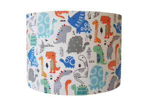 Blue And Orange Dinosaur Lampshade