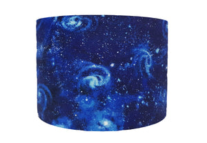 blue galaxy lampshade