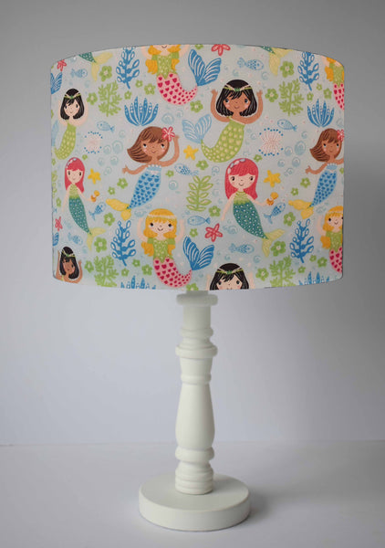 blue mermaid table lamp shade