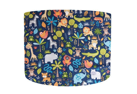 blue safari animal lampshade