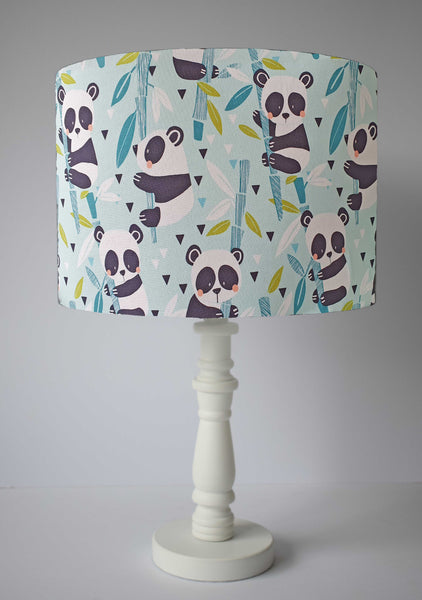 adorable panda table lamp shade in blue