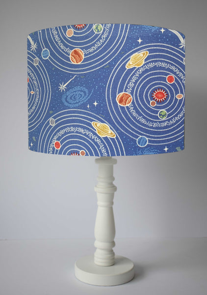 planets orbiting solar system glow in the dark table lamp
