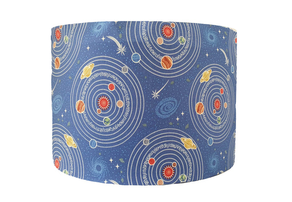 blue solar system lampshade