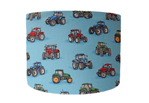 Blue Tractor Kids Lampshade