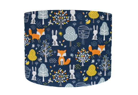Blue Woodland Lampshade