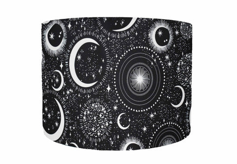 celestial moon and stars lampshade