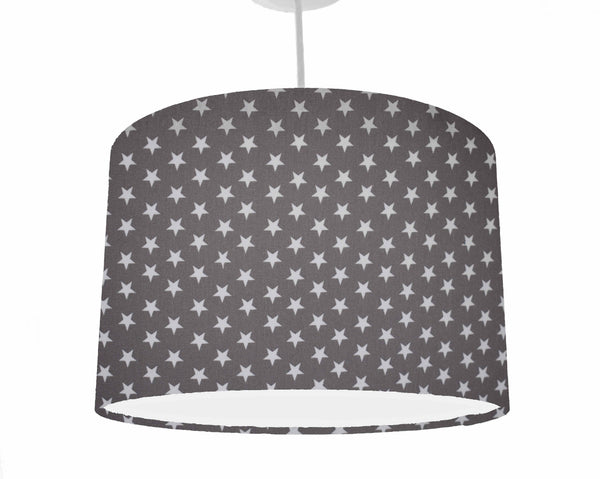 dark grey star lampshade, star nursery