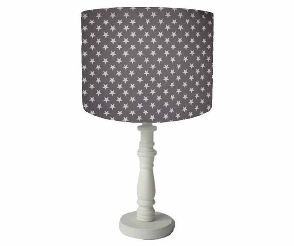 dark grey star table lamp shade