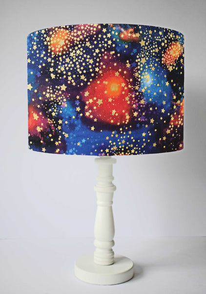 Cosmic galaxy gold star table lamp shade