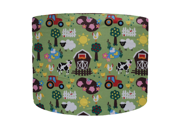 Green Farm Lampshade