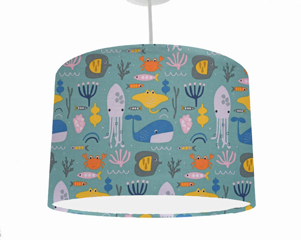 Ocean themed nursery ceiling light shade