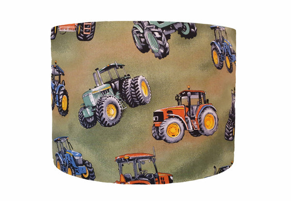 green tractor lampshade
