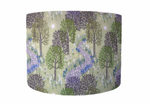 Green Wood Scene Lampshade