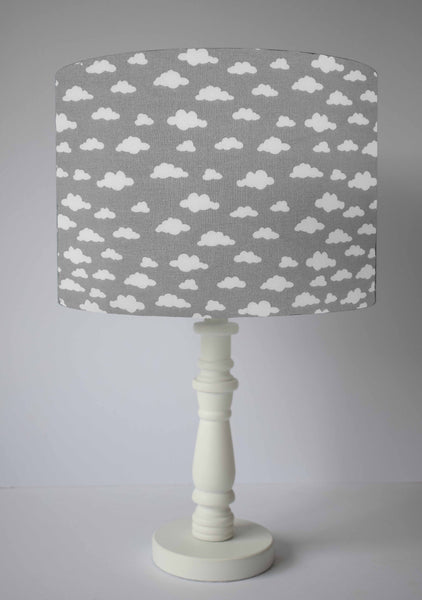 grey and white cloud table lamp shade
