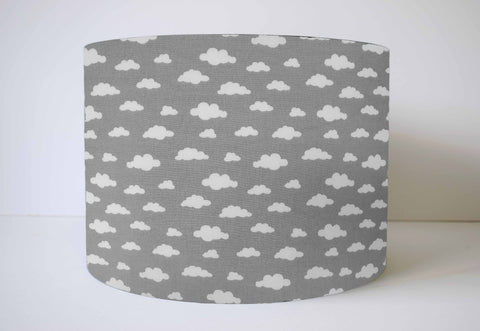 grey cloud nursery lampshade monochrome theme