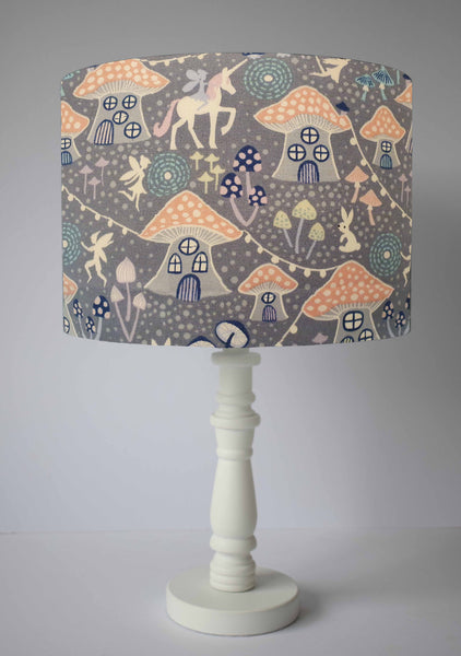 Fairy Lights, Unicorn and Toadstool Lampshade, Girl Bedroom Decor