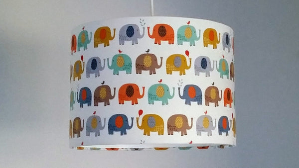 Cream Elephant Lampshade, Safari Animal Nursery Decor