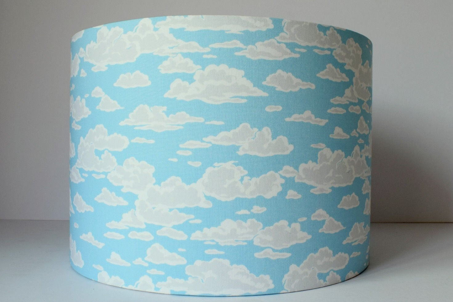 blue sky and cloud lampshade for nursery