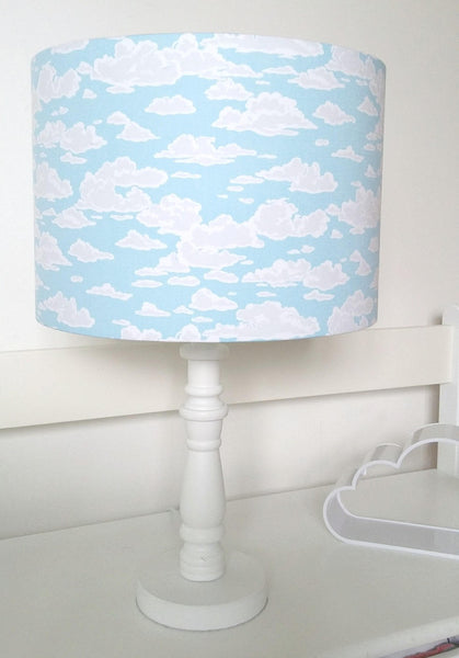 cloud and blue sky table lampshade nursery