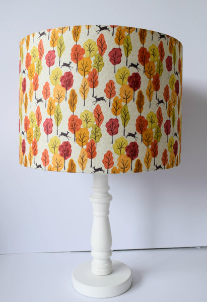 Autumn Woodland Lampshade, Nature Themed Home Decor
